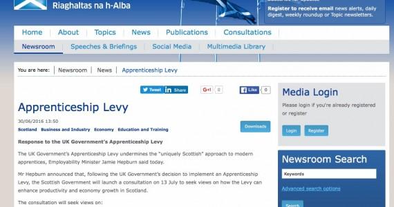 Apprenticeship Levy in Scotland