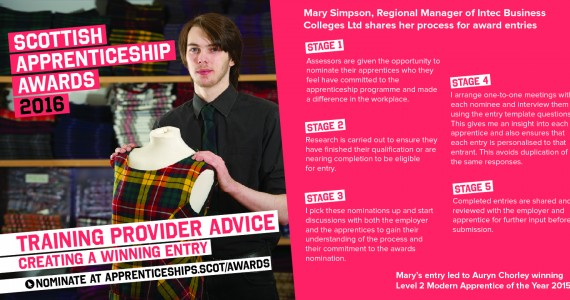 `Tips and Tricks' for Apprenticeship Awards