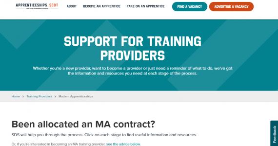 New updates to apprenticeships website